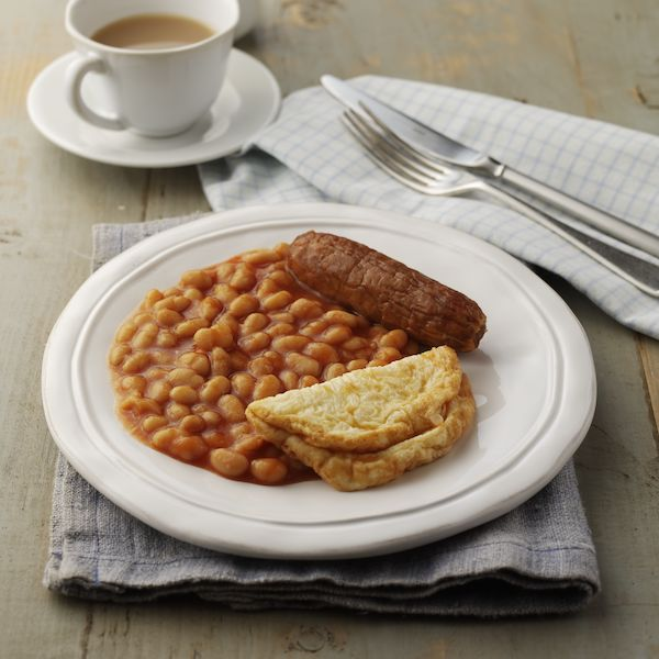 Sausage, Beans & Omelette