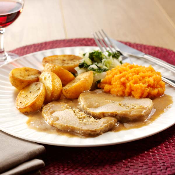 Hearty Pork with Sage Stuffing