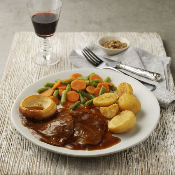 Beef with Roast Potatoes