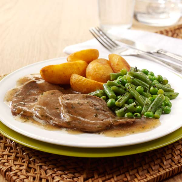Free From Roast Lamb in Minty Gravy