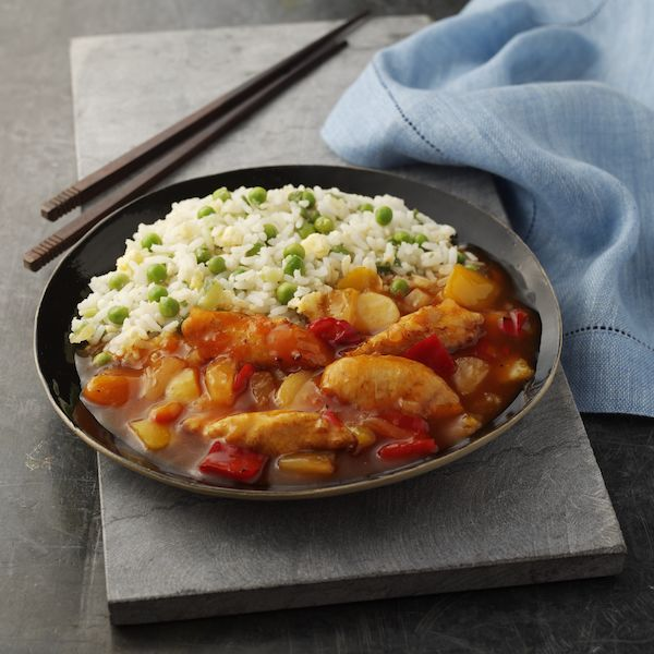 Sweet & Sour Chicken with Egg Fried Rice