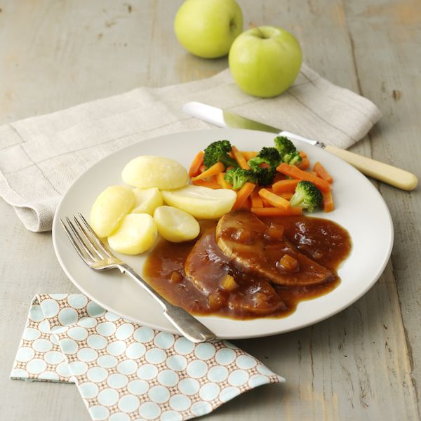 Roast Pork with Cider & Apple Gravy