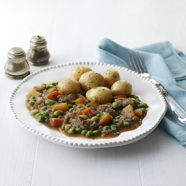 Slow Cooked Lamb with Minted Peas & Beans