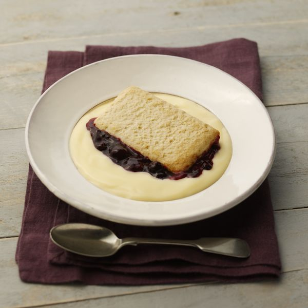 Reduced Sugar Blackcurrant Pie & Custard