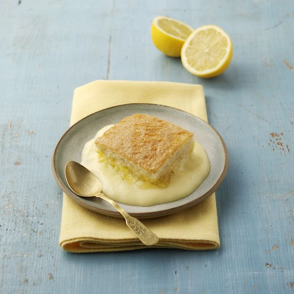 Reduced Sugar Lemon Sponge & Custard